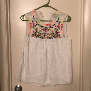 Embroidered JCrew tank